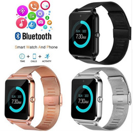 Gps steel online shopping - Bluetooth Smart Watch Z60 Wireless Smart Watches Stainless Steel For IOS Android Support SIM TF Card Camera Fitness Tracker with Retail Box