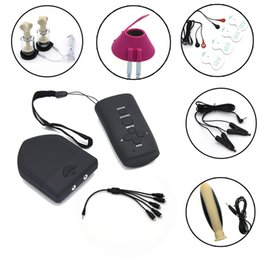 $enCountryForm.capitalKeyWord Australia - Wireless Remote Control Therapy Electric Shock Anal Plug Nipple Clamps Sucker Scrotum Ring Massager Pads Sex Toys Sex Shop