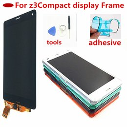 $enCountryForm.capitalKeyWord Australia - 4.6 inch Screen For Sony  Z3 Compact LCD Touch Display D5803 D5833 Digitizer + Frame for Sony z3 mini Screen Replacement