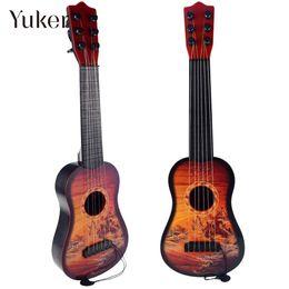 Discount string instruments kids - 6-String Guita Toys Kids Children Guitars Cute Musical Instrument Ukulele Good Sound Gifts
