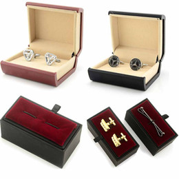 $enCountryForm.capitalKeyWord Canada - High Quality Nice Plastic Cufflinks Storage Organizer Case Cuff Link Tie Clasp Display Holder Box for Jewery Wedding Free Shipping