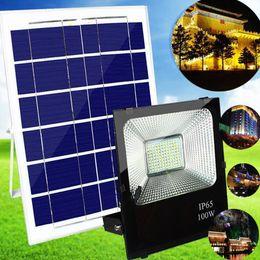 outdoor power bar 2019 - Solar Powered Flood Lights Outdoor, Remote Control Solar Light Waterproof, Dusk to Dawn Solar Security Floodlight Fixtur