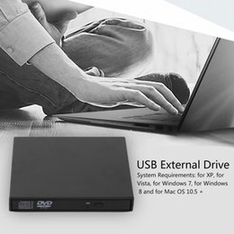 $enCountryForm.capitalKeyWord Australia - Freeshipping Ultral Thin USB 2.0 Load Optical CD RW Player Drive Burner for PC Mac USB 2.0 External Mobile Box Hard Drive Free Shipping