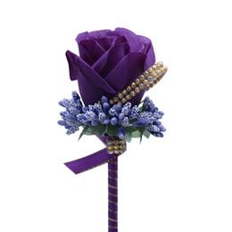 2021 Корсажи для Groom Groomsmen Party Prom Жилеты Костюм Свадебные Костюмы для мужчин Свадебный костюм Жених Мужчин Розовые Цветы 10 Цветов на Распродаже