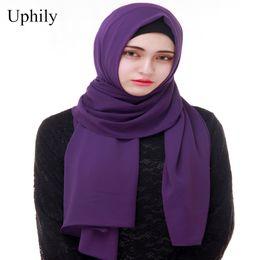 $enCountryForm.capitalKeyWord NZ - women plain thick bubble chiffon scarf muslim hijab wrap solid color shawls headscarf popular hijab muslim turban shawl headwear