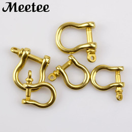 Diy Chain Ring Australia - Metal Bag Buckles Solid Brass D Clasp Ring For Key Chain Belt Snap Hooks Fastener DIY Leather Bag Craft Accessory F1-45