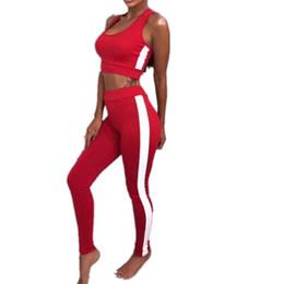d7b0056d136 2 pcs Set Womens Crop Top Leggings Jumpsuit Ladies Sleeveless Cut Out Crop  Tops Skinny Leggins Suit 2018 Fitness Tracksuit