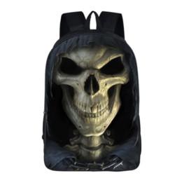 $enCountryForm.capitalKeyWord NZ - Cool Death Skull Fashion Backpack Children School Bags Boys Girls For Teenage Bagpack School Women Men Leisure bag SB66