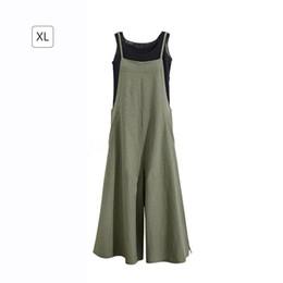 Harem Jumpsuits Women Australia - Harajuku Spring Autumn Vintage Long Pants Women Cotton Jumpsuits Casual Spaghtti Strap Rompers Plus Size Harem Jumpsuit Overalls