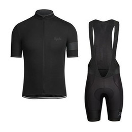 Rapha black jeRsey online shopping - RAPHA summer mens short sleeve cycling jersey bike wear Clothes bib SET MTB uniform PRO cycling clothing bicycle Maillot Culotte suit