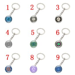 $enCountryForm.capitalKeyWord NZ - Mandala flower OM symbol metal key chain Time Gem Cabochon pendant key ring 9 styles jewelry