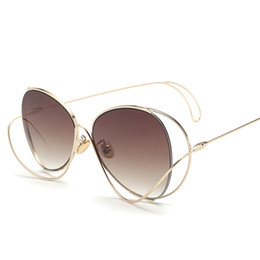 flat mirrors UK - designer sunglasses for women Star curve structure sunglasses personality style street shooting UV protection flat glasses