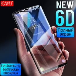 Discount galaxy s6 edge plus tempered full - GVU 6D Full Curved Tempered Glass For Galaxy S8 S9 Plus Screen Protector Film For S6 S7 edge Note8 S8 S9 Glass