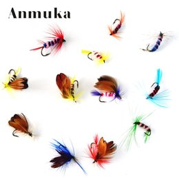 Trout Fish Hooks Australia - Anmuka 12pcs set Various Dry Fly Fishing Trout Salmon Dry Flies Fish Hook Lures fishing fishing pesca Y18100806