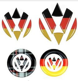 Volkswagen Polo Logo NZ - Steering Wheel Car Sticker Germany Flag Decal VW Emblem Front Rear Logo For Volkswagen Golf 6 7 Polo Beetle Touran Passat CC R36
