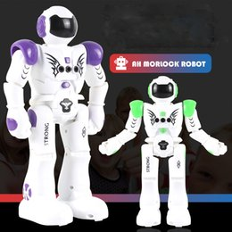 Programmable toys online shopping - RC Intelligent Robot Remote Control Smart Programmable Robots Walk Slide Dance Music Talk Demostration Interactive Robot Toys OTH870