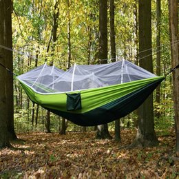 double hammock with mosquito   camping survival parachute cloth portable hammock 260 130cm stitching color 3 colors wholesale 2503086 camping hammocks nz   buy new camping hammocks online from best      rh   nz dhgate