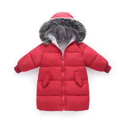 Discount jacket hat baby - Girls Winter Down Jacket For Boys Winter Children's Clothes For Girl Boy Snowsuit Warm Coat Fahion Baby Chothing Re