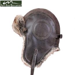 $enCountryForm.capitalKeyWord Australia - 2018 New Winter Artificial Leather Hats Casual Men Women Windproof Warm Bomber Hats Motorcycle Flight Ear Protection Cap Hi-Q C18110801