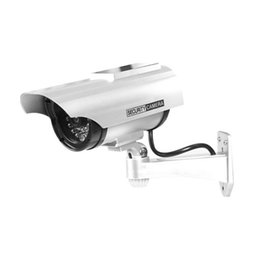 China YZ-3302 Solar Powered Dummy CCTV Security Surveillance Waterproof Fake Camera Flashing Red LED Light Video Anti-theft Camera cheap anti theft cameras suppliers