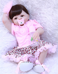 100% Handmade 55cm Reborn Babies Dolls Full Silicone Body Lifelike live Bebe  Reborn For cute girls 2018 Christmas Gifts toy BJD 1ff91f2e7df2