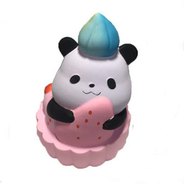 China Squishy Cute panda 14cm squishies Slow Rising Soft Squeeze Cute Cell Phone Strap gift Stress children toys Decompression Toy supplier kids cell phones suppliers