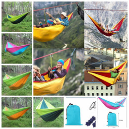 portable parachute hammock camping survival garden hunting leisure travel double person camping hammock 250 140cm 4 color kka4181 wholesale camping hammock nz   buy new wholesale camping hammock      rh   nz dhgate