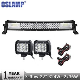 53inch 300W Curved Epistar LED Work Light Bar Driving Offroad Jeep Ford Truck