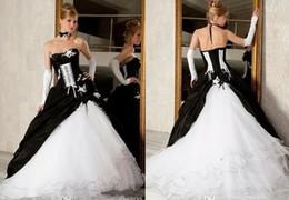 Gothic Black White Corset Wedding Dress Australia