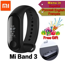 Wholesale Original Xiaomi Mi Band miband Smart Wristband Fitness Bracelet band ATM Waterproof OLED Touch Display Caller ID
