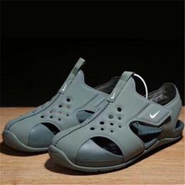 55fb59d4 Marca 2018 sandalias de playa de verano niños cerrado dedo del pie Sandalias  para niños pequeños zapatos de diseñador de moda para niños y niñas 22 #  -35 #