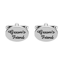 Discount plated mens silver cufflinks - Mens Grooms Friend Wedding Shirt Cufflinks For Male Wedding Engagement Party Cloth Jewelry Accessories Best Friend Cuffl
