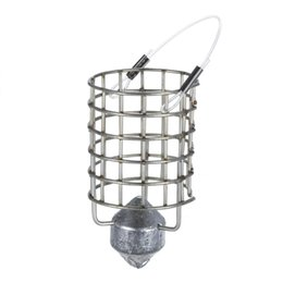 Bait Cages UK - Y5116-30 Stainless Steel Feeder Holder Fishing Lure Cage Fishing Trap Basket Feeder Bait Cage Fishing Bait