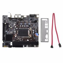 Опт Бесплатная доставка профессиональный настольный компьютер H61 материнская плата 1155 контактный CPU обновить интерфейс с USB2.0 память DDR3 1600/1333