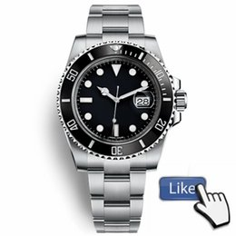 CeramiC bezel automatiC meChaniCal men watCh online shopping - Watches Men Automatic Black Ceramic Bezel Dial Stainless Steel Chrono Watches Man Wristwatch New Sports Runaway Wristwatch Relojes