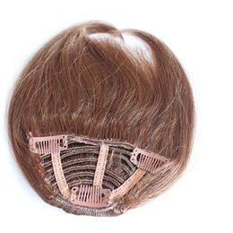 China Human Hair Black Brown Blonde Real Fringe Clip In Bangs Hair Extensions suppliers
