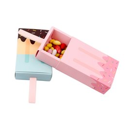 China 10pcs Ice Cream Shape Candy Box Paper Bags Wedding Favors and Gifts Bag Birthday Party Decorations Kids Party Favor Boxes suppliers