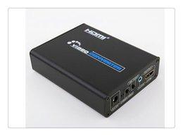 Alta qualità 1080P da HDMI a S-Video CVBS RCA L / R Audio Video Converter per TV PC Blu-Ray DVD con adattatore di alimentazione o cavo Hdmi Alta qualità