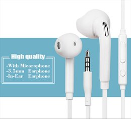 $enCountryForm.capitalKeyWord Canada - Newest 3.5mm In-Ear Earphones Earbuds Headphone Headset With Mic & Remote Volume Control For Samsung Galaxy S6 i9800 S6 Edge 100pcs lot