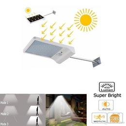 Discount patio walls - PIR Motion Sensor Solar LED Wall lamp Waterproof Outdoor Night light For Street Garden Door Path Yard Path Fence Patio S