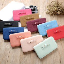 phone hoops Canada - New Korean version of the multifunctional ladies in the long wallet fashion cute sweet bow lunch box clutch bag phone bag