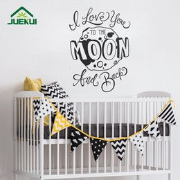 $enCountryForm.capitalKeyWord Canada - I Love You to the Moon and Back Pattern Letters Vinyl Wall Stickers for Nursery Baby Living Room Bedroom Art Decor Poster K558