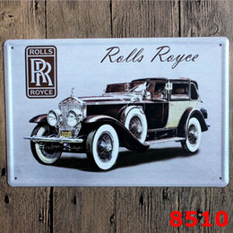 antique car paintings 2019 - Vintage Car Tin Signs Wall Art Retro Route 66 TIN SIGN Old Wall Metal Painting ART Bar Pub Coffee Restaurant Home Decora