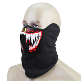 sound mask UK - Halloween LED Terror Masks Cool Festival Party Glowing Mask Music Sound Control Flash LED Mask Half Face Halloween Cosplay Prop