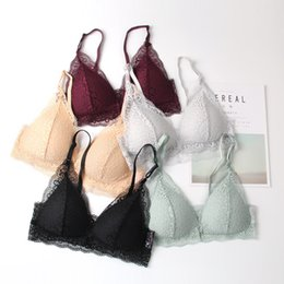 cab5198e77a06 Hot New French Plunge Bra Wire Free Seamless Push Up Bra Fashion Lace Bras  For Women Erotic Lingerie Comfortable Underwear Bralette