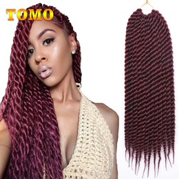 $enCountryForm.capitalKeyWord NZ - TOMO Senegalese Twist Crochet Braids Pure Or Ombre gray blonde brown Burgundy Kanekalon Synthetic Hair For Black White Women 12Roots pack