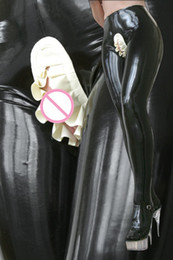 Discount latex rubber leggings - Latex Leggings Women Latex Trousers Ruffle Women Skinny Rubber Leggings Customized