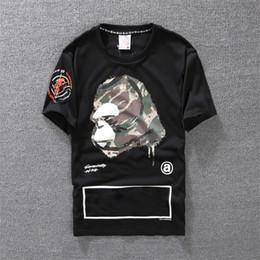 d2e4a55546 Camiseta informal para hombres Camisa de diseño para hombre Negro Blanco  Naranja Talla S-XXL Mezcla de algodón Manga corta para cuello redondo  Impresión de ...