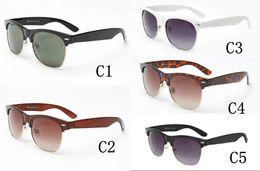 China 2018 HOT 2145 Brand sunglasses women men Club Master Sun glasses outdoors driving glasses uv400 Eyewear brown sunglasses cheap club masters sunglasses suppliers