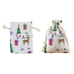 baby birthday candles UK - 12pcs Drawstring Burlap Bags Pouches Candy Jewelry Storage Gifts Bags for Birthday Baby Shower Christmas Wedding